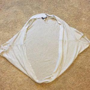 Sweaters - Light grey shrug wrap